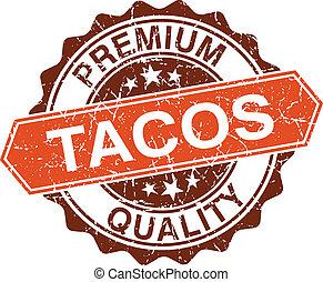 tacos, grungy, dupnutí, osamocený, oproti neposkvrněný,...