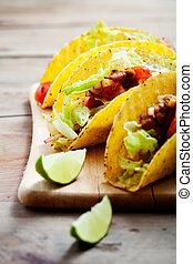 tacos, poulet