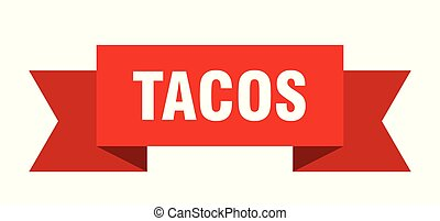 tacos ribbon. tacos isolated sign. tacos banner