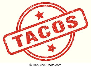 tacos round grunge isolated stamp