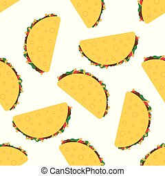 Tacos seamless vector pattern - Tacos seamless pattern. ...