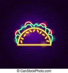 tacos, signe néon