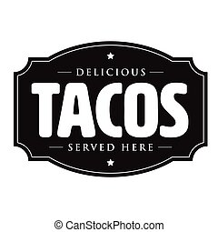 Tacos vintage sign stamp