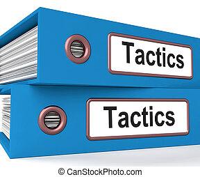 Tactics Folders Showing Organisation And Strategic Methods