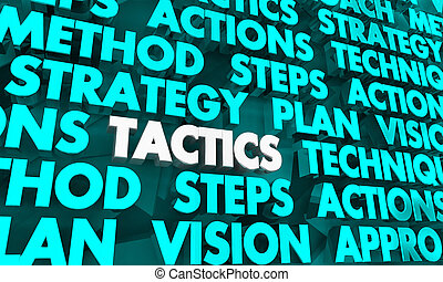 Tactics Strategy Plan Vision Words 3d Illustration