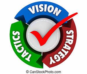 tactiek, proces, pijl, illustratie, strategie, planning, visie, 3d