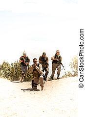 tactique, forces spéciales, équipe