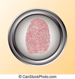 tacto, identificación, huella digital, exploración, acceso