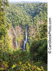 Stunning Tad Fane waterfall from above, Paksong, Laos