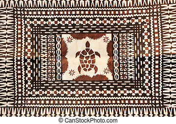 Taditional Pacific Islands tapa cloth background - ...