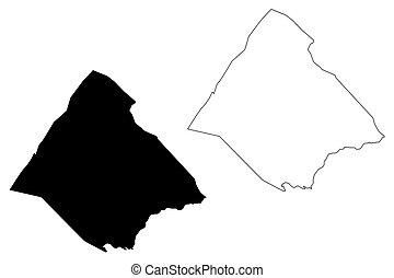 Tadjourah Region (Republic of Djibouti, Horn of Africa, Gulf of Aden) map vector illustration, scribble sketch Tadjourah map