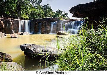 Tadtone waterfalls in chaiyaphum province, thailand
