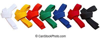 Tae Kwon Do Belts - Set of Tae Kwon Do Belts isolated on...
