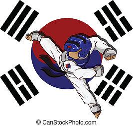 taekwondo, τέχνη, νυφίτσα