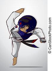 taekwondo, воинственный, изобразительное искусство