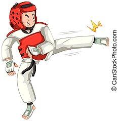 taekwondo, 運動選手, 特徴