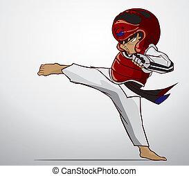 taekwondo, arte, marcial