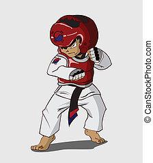 taekwondo, arte, marziale