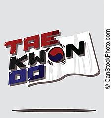 taekwondo, bandera de korean