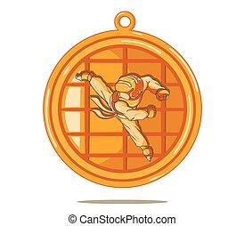 Taekwondo Bronze Medal. Vector