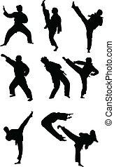 Taekwondo collection - vector