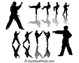 taekwondo-fighter - vector