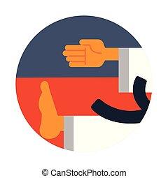Taekwondo flat illustration