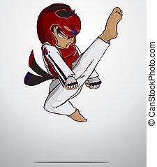 taekwondo, konst, militär