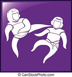 taekwondo, symbole, sport