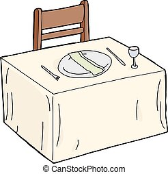 tafeel servet, schaaltje