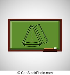 tafel, geometrisch, begriff, bildung, figur