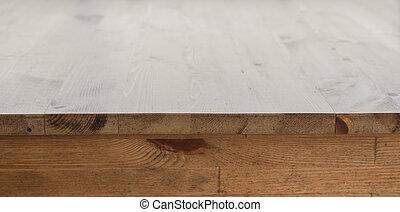 tafel, hout, restaurant