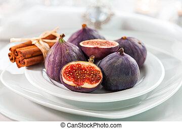 tafel, kaneel, figs, kerstmis, fris