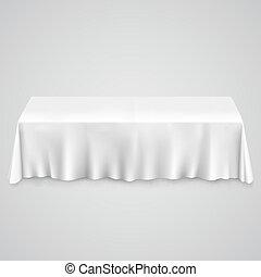 tafel, met, tafelkleed