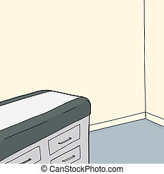 tafel, onderzoek kamer