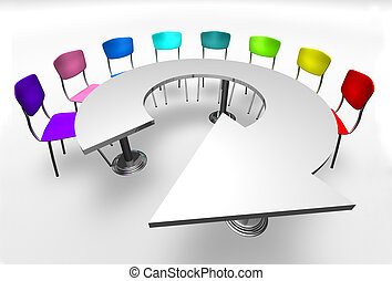 tafel, richtingwijzer