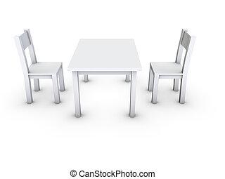tafel, stoel