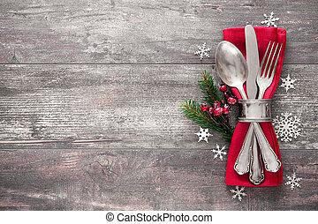 tafel te zetten, plek, kerstmis