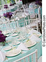 tafel, trouwfeest