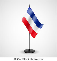 tafel, vlag, van, joegoslavië