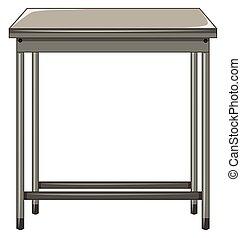 tafel, witte , metaal, achtergrond