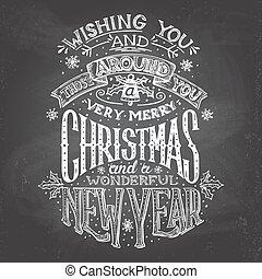 tafelkreide, hand-lettering, wünsche, weihnachten