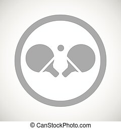 tafeltennis, meldingsbord, grijze , pictogram