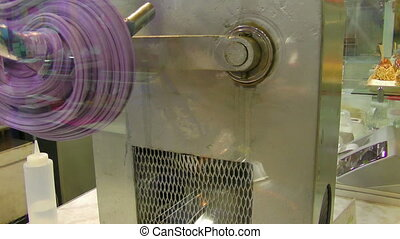 Taffy pulling machine - Saltwater taffy pulling machine at...