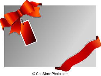 tag., ウィット, リボン, クリスマス, 背景