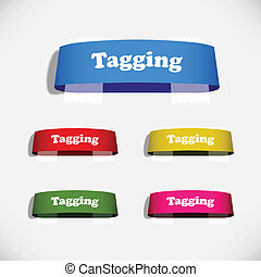 tag, adesivo, etiqueta, gesso, sombra