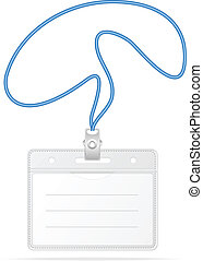 Tag Badge Holder isolated on white
