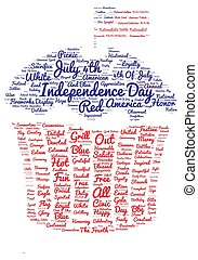 Tag cloud of 4th of july - cupcake