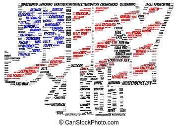 Tag cloud of 4th of july - flag