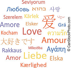 Tag cloud or speech bubble: Love. - Tag cloud or speech ...